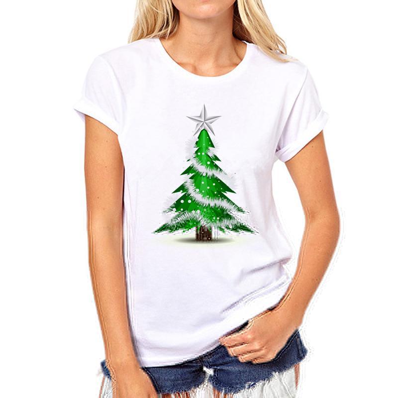 Großhandel Weihnachtsbaum Neue Mode Frauen T Shirts Kurzarm T Shirt ...