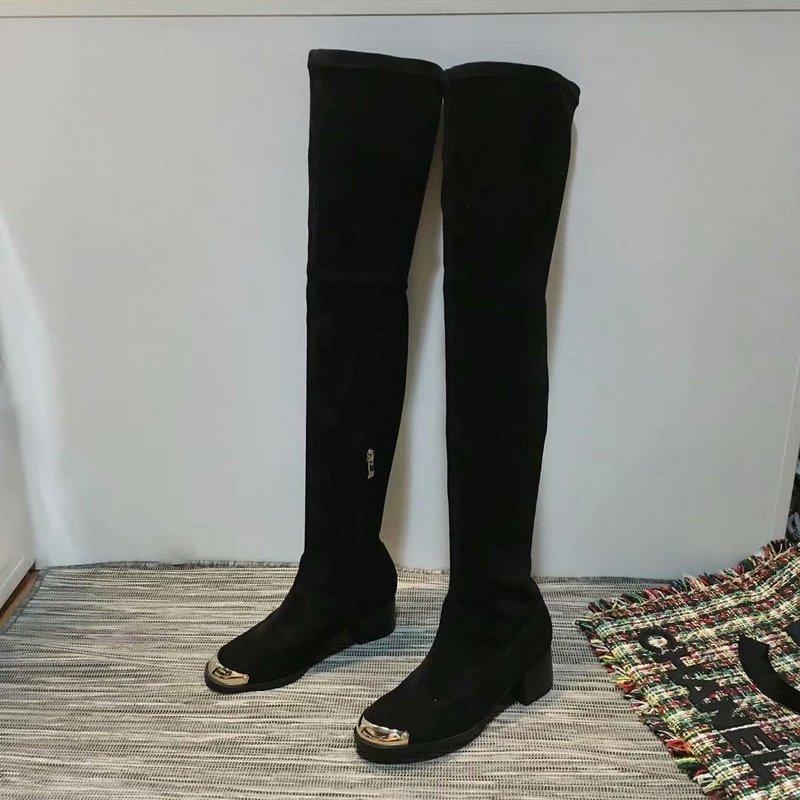 de00d6d8e6c Acheter Femmes Bottes Longues Nouveau Style Automne Hiver Marque Chaussures  En Plein Air Tête Femme Taille 35 40 Vêtements De  66.25 Du Wg99