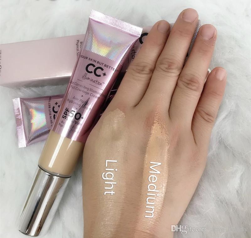 New makeup cosmetics Color Correcting Illuminating Full Coverage Cream 32ml Primer Concealer Light Medium DHL shipping