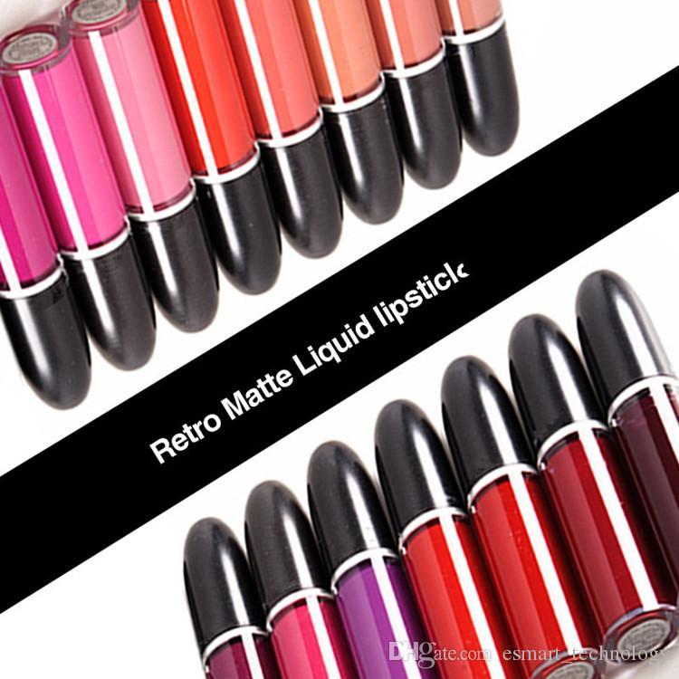 b66bbb3b5a1e3 Compre HOT M A C 15 Cores Retro Matte Batom Líquido 5 Ml Longa Duração Lip  Gloss Lipgloss Maquiagem Marca Rouge Um Levre De Esmart technology