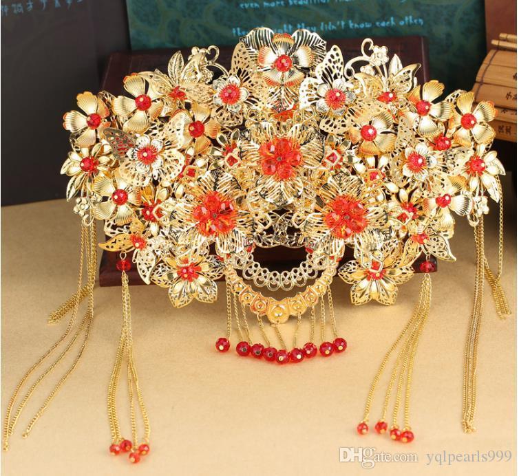Das Kostüm der Braut Kopfschmuck gefransten Kamm Kamm klassischen Coronet