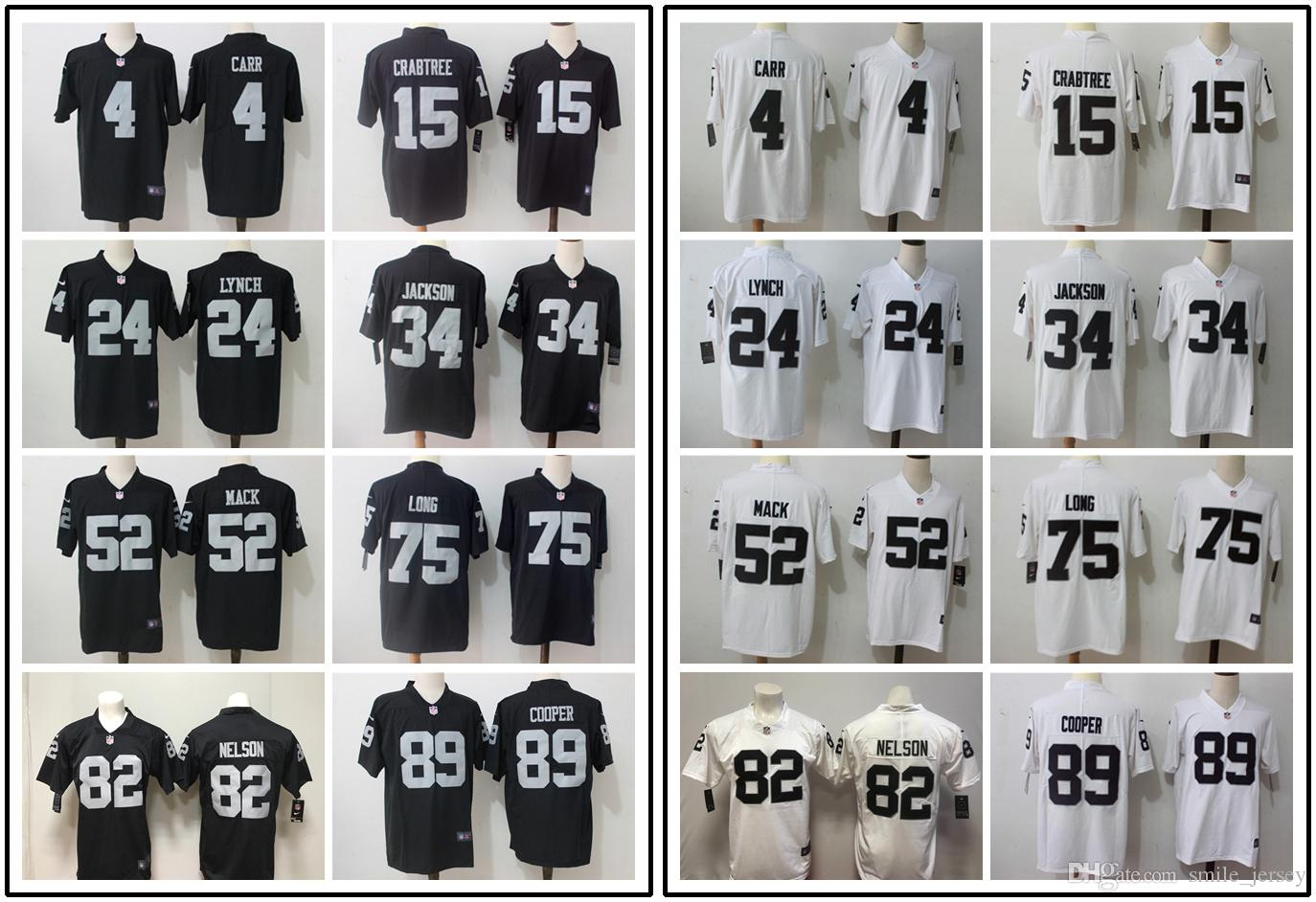 1e9ca5fc8 New Mens Oakland Raiders Football Jerseys 4 Derek Carr 52 Khalil ...