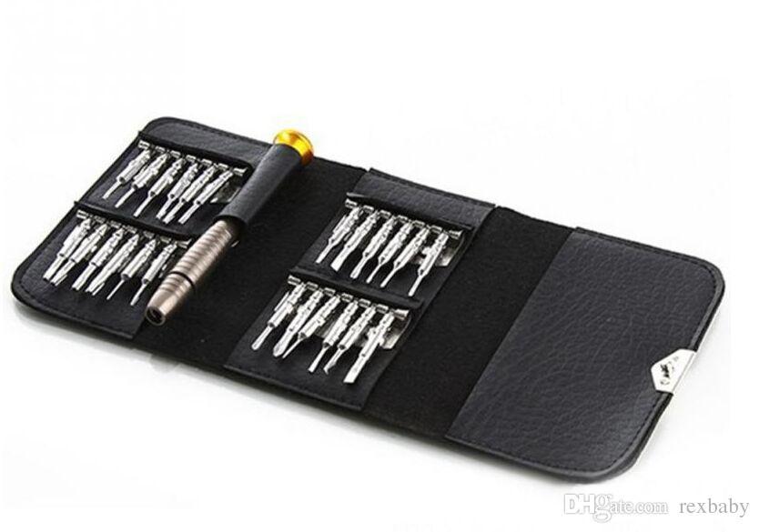 عالية الجودة 25 في 1 الدقة توركس مفك الهاتف الخليوي محفظة أداة إصلاح تعيين ل فون المحمول الالكترونيات الكمبيوتر المحمول