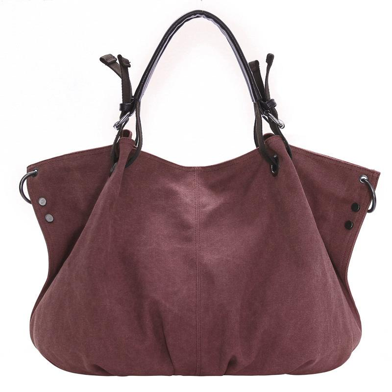 fb7eb9cec2 New Women Leisure Brief Shoulder Bag Large Capacity Handbag Canvas Bag  Casual Big Tote Bag Design Black Leather Handbags Cute Bags From Zhongjia2