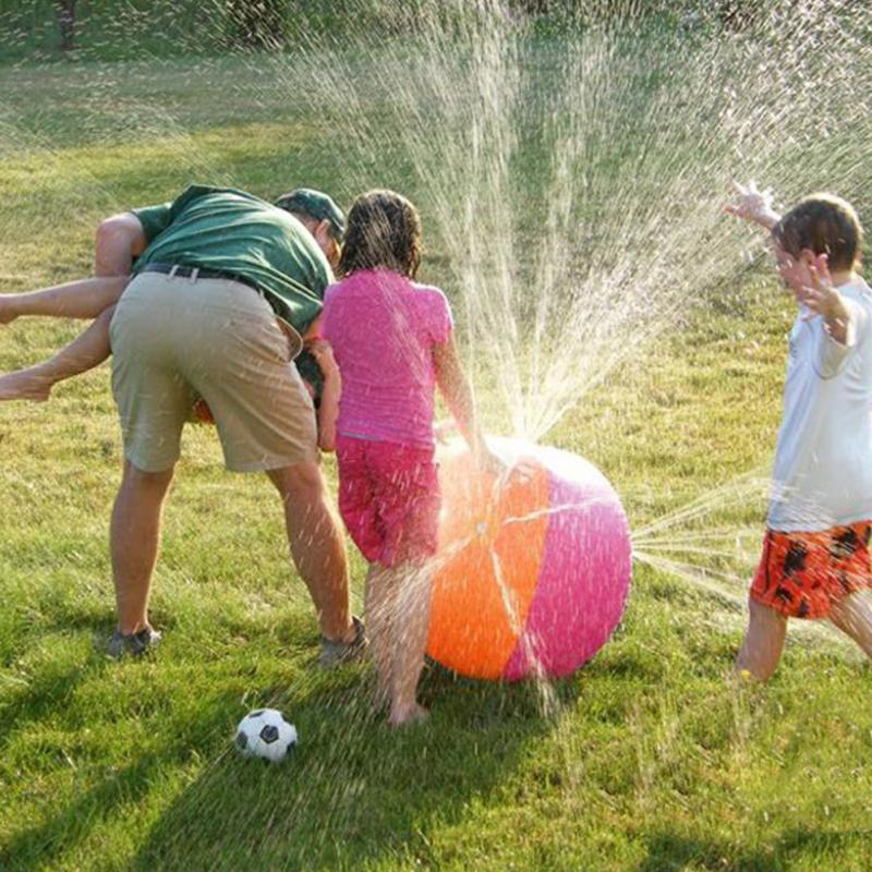 Hot Selling Inflatable Beach Water Ball Outdoor Sprinkler Summer Inflatable Water Spray Balloon Outdoors Play In The Water Beach Ball