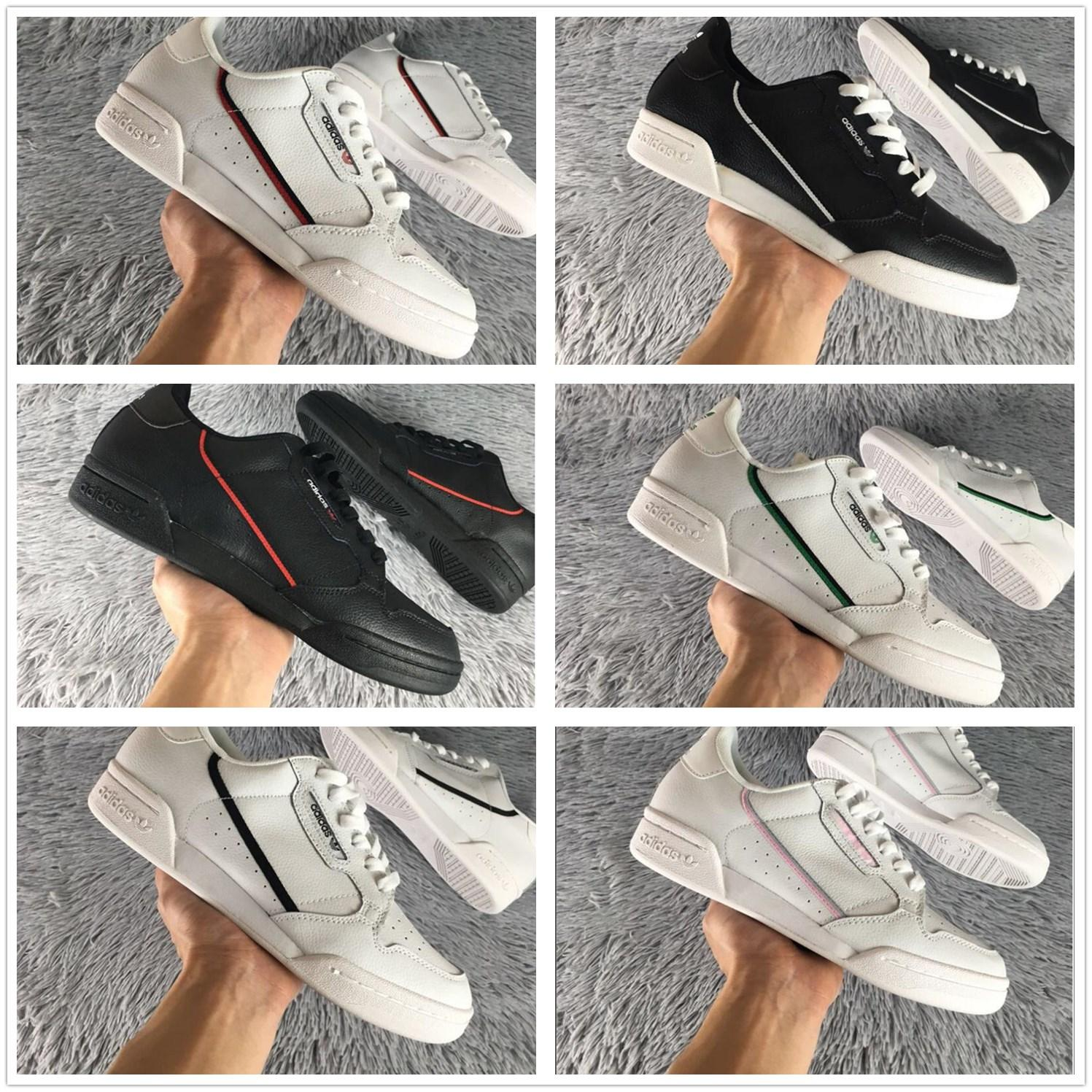 best loved b4542 80ec3 New 2018 Original Continental 80 Rascal Leather X Kanye West Running Shoes  Good Quality White Black Men Fashion Sports Sneakers Scholl Shoes Leopard  Print ...