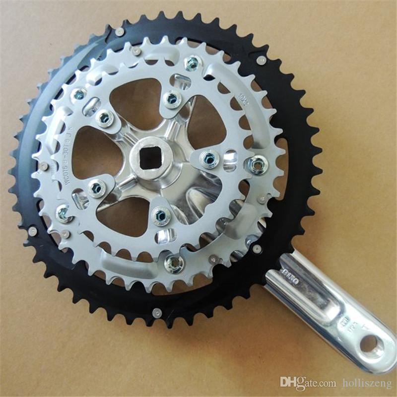 9 velocidade Pedaleira Bicicleta Componentes MTB Mountain Bike Cadeia Roda 9 Velocidades 50 * 39 * 30 172.5mm Top Quality Bicicleta Chainwheel NGT novo cara passos