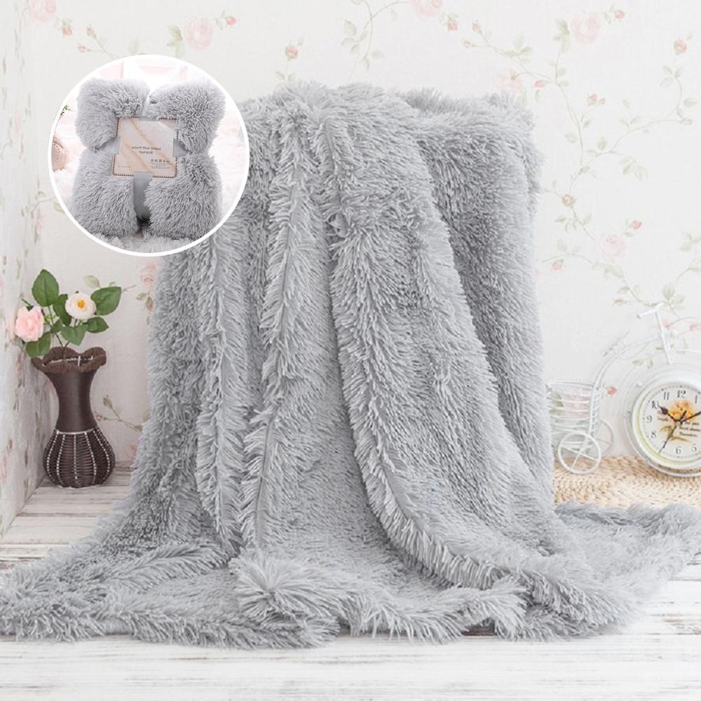 Compre manta de piel sint tica suave esponjosa sherpa - Mantas de piel ...