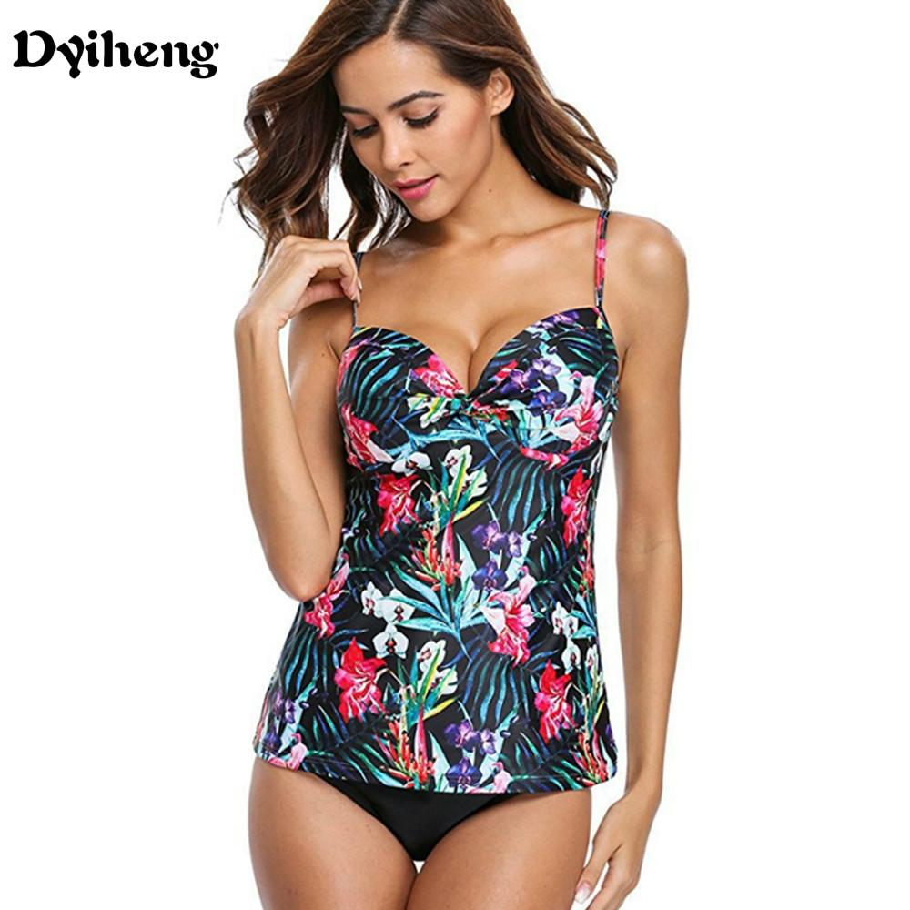 70efa3624268b 2019 Dyiheng 2018 Sexy Swimsuit Women Plus Size Tankini Sets Swim Vintage  Beach Wear Bathing Suits Female Print Monokini Swim Suit 5XL From Dyiheng,  ...