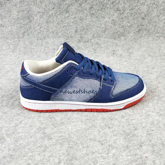 cheap for discount cfec8 49cd3 Dunk SB Low Pro QS Denim Forbes Men Women Running Shoes PARIS What The Dunk  White Widow Roswell Raygun DECON TRD Skateboarding Shoes