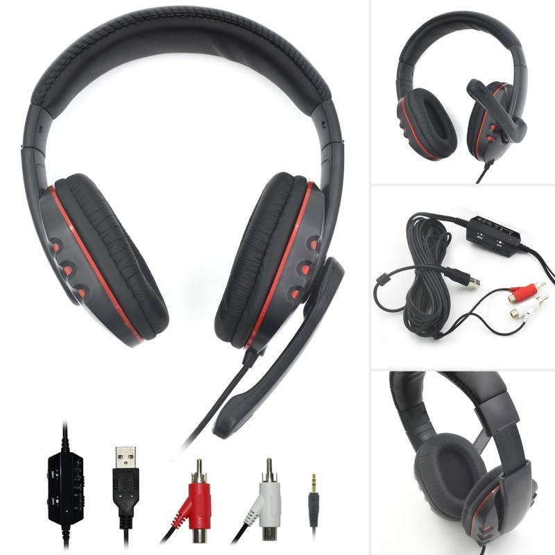 32134851efe Wired Gaming Headphone Stereo Earphone Game Headset Gamer Handsfree With Mic  For PS3 PS4 XBOX360 XBOXONE Computer PC Wireless Headphones For Tv Best ...