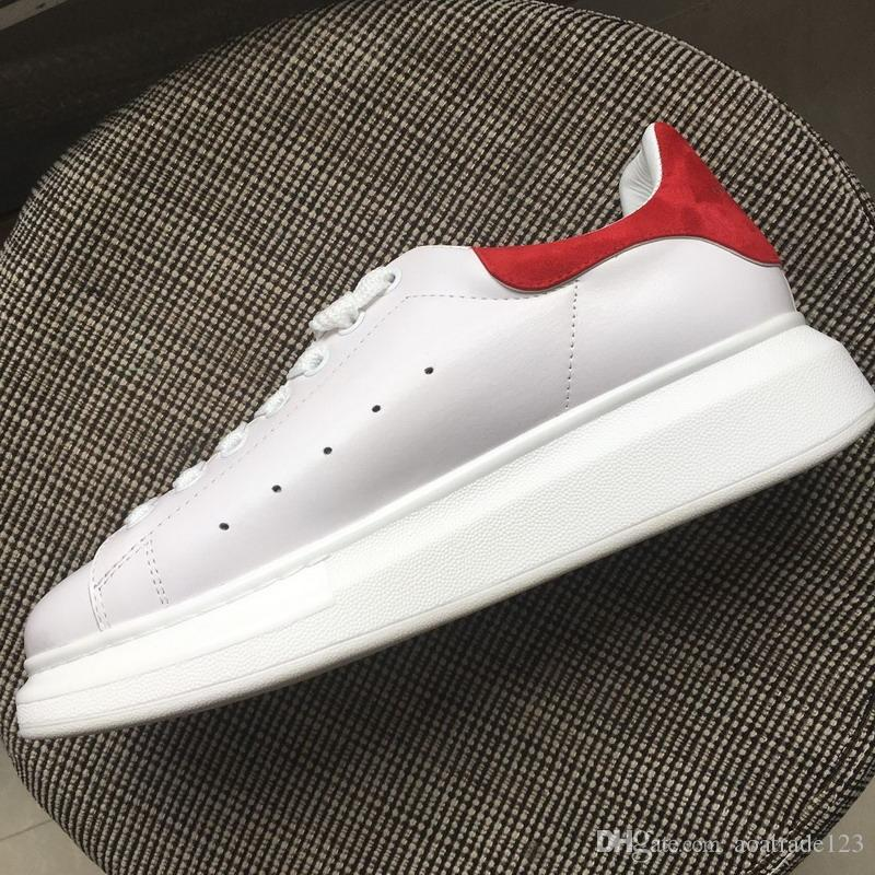 d7b15b8fbaa New 2019 Men Women White Leather Red Suede Back Low Top Platform  Sneakers,Designer Brand Lovers Thick Bottom Casual Shoes 35-45