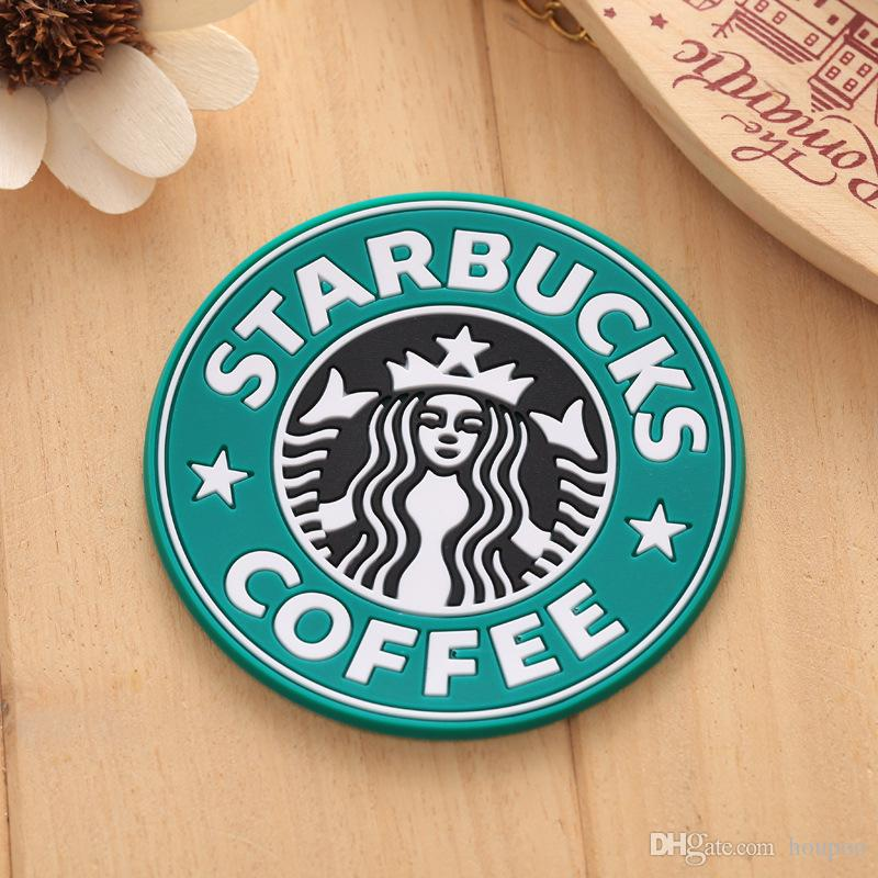 New 8.5cm Silicone Coasters Thermo Cup Cushion Holder Starbucks Sea-maid Coffee Mugs Round Mat