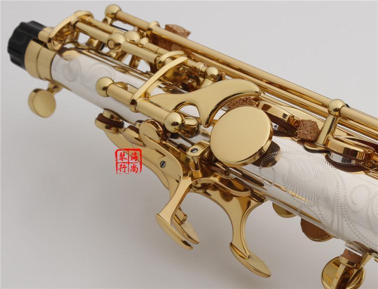 YANAGISAWA W037 Soprano Saksafon Pirinç Gümüş Kaplama Tüp Altın Anahtar Sax Ağızlık Sazlık Viraj Boyun Ücretsiz Nakliye Ile Sax