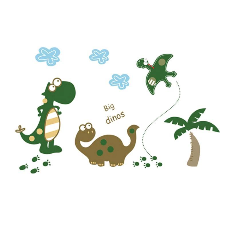 Großhandel Cartoon Dinosaurier Wandsticker Kinderzimmer Tiere ...
