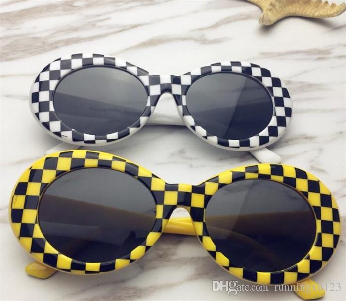 5190d18719 Kurt Cobain Clout Goggles Men Women Vintage Retro Neff Small Oval  Sunglasses NIRVANA Male 90s White Alien Sun Glasses R152 Kids Sunglasses  Locs Sunglasses ...