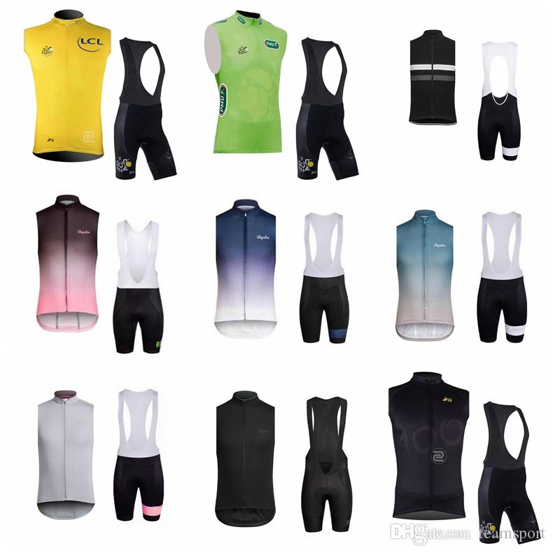 RAPHA TOUR DE FRANCE Team Cycling Sleeveless Jersey Vest Bib Shorts Sets Man  High Quality Breathable Bicycle Bib Shorts Sets 841220 Cycle Shoes Cycling  Caps ... a85e22488