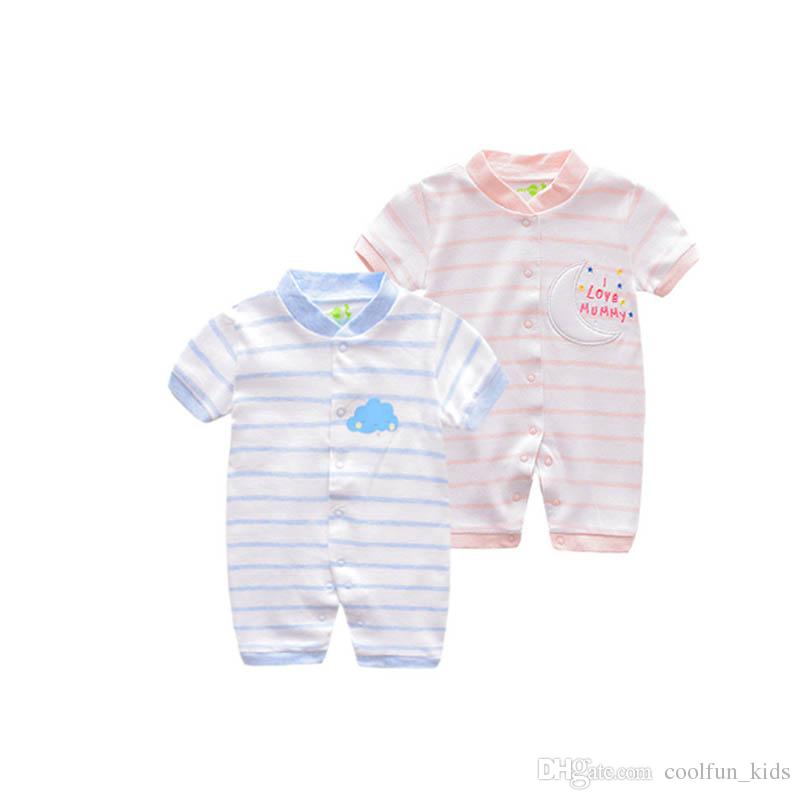 6a4ae34467f8 Summer Baby Rompers Baby Boy Girl Clothing Newborn Infant Short ...