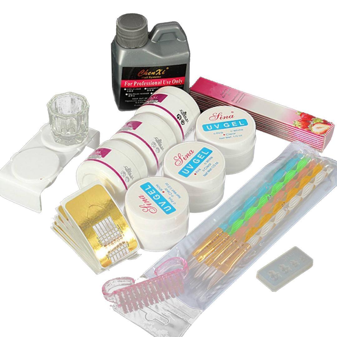 Professionelle Nail Art Maniküre Werkzeuge Acryl Flüssig Pulver Glitter Kunst Uv Gel Strass Tipps Pinsel-werkzeug Nagel Set Kit Schönheit & Gesundheit Nails Art & Werkzeuge