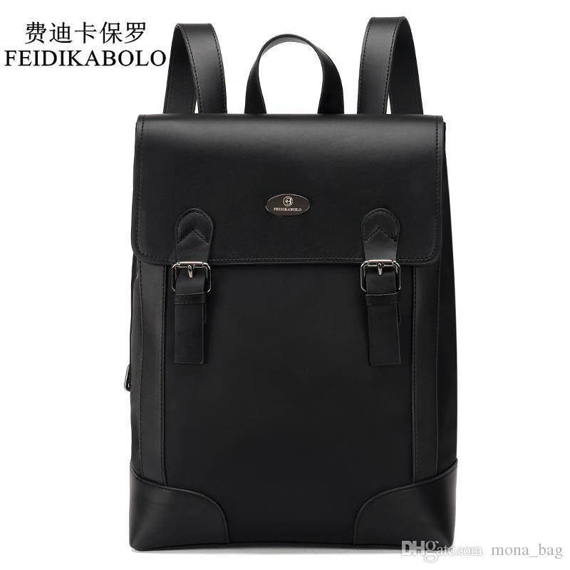 c74aefa6e4fe FEIDIKABOLO Brand Male Backpack Preppy Style Leather School Backpack Bag  Men Oxford Teenagers Fashion Backpack Mochila Masculina Hiking Backpack  Swiss Gear ...