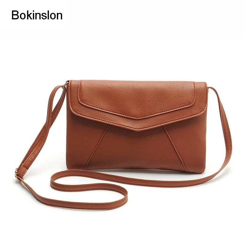4e26c463e12e Bokinslon Woman Shoulder Bags Retro PU Leather Handbags For Women Fashion  Candy Colors Mini Female Crossbody Bag