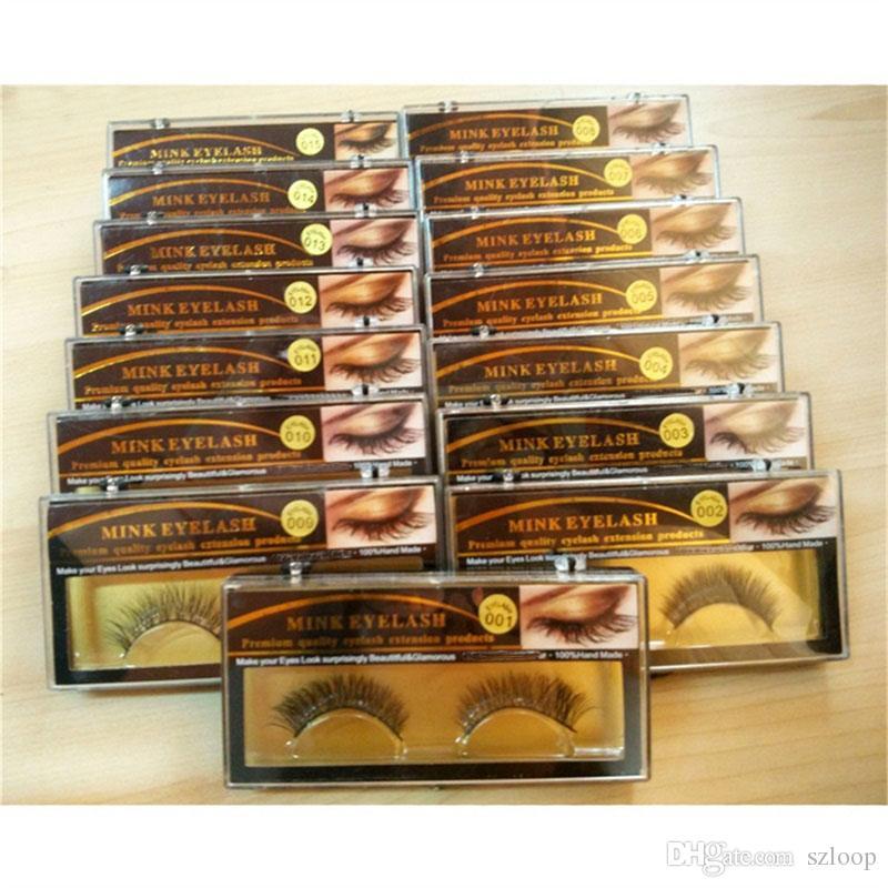 3D Nerz Falsche Wimpern 15 Arten Handgemachte Schönheit dicke lange weiche falsche Wimpern Wimpern 3001081