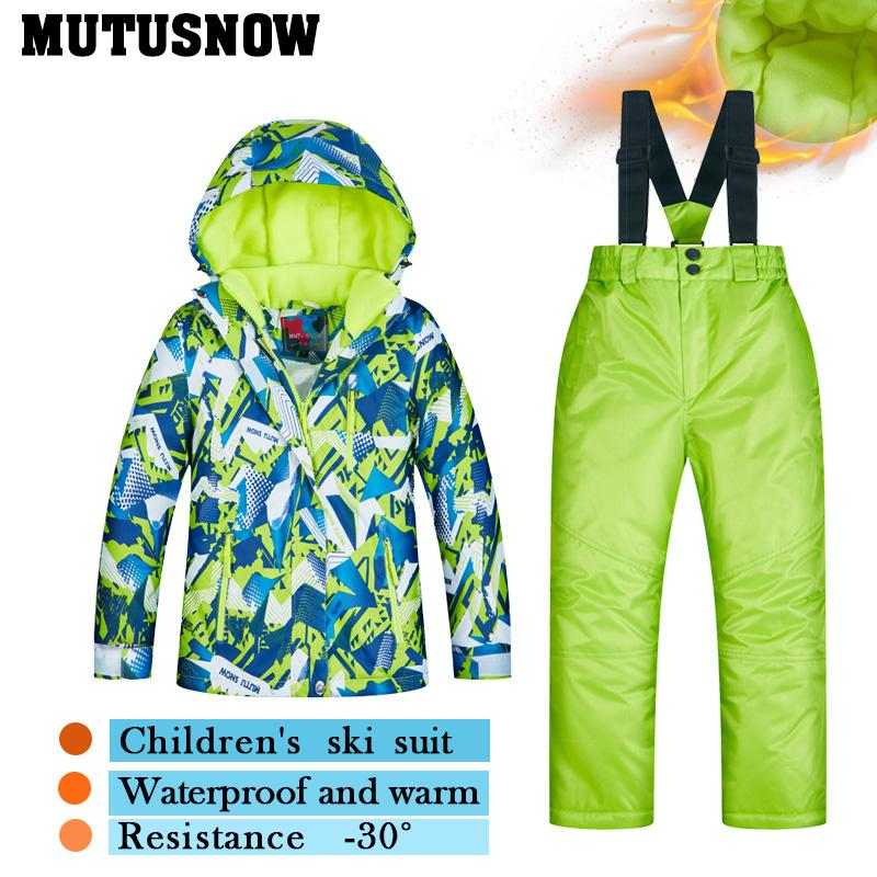 f42b4a990 2019 2018 Latest Children S Ski Suit Winter Children Windproof ...