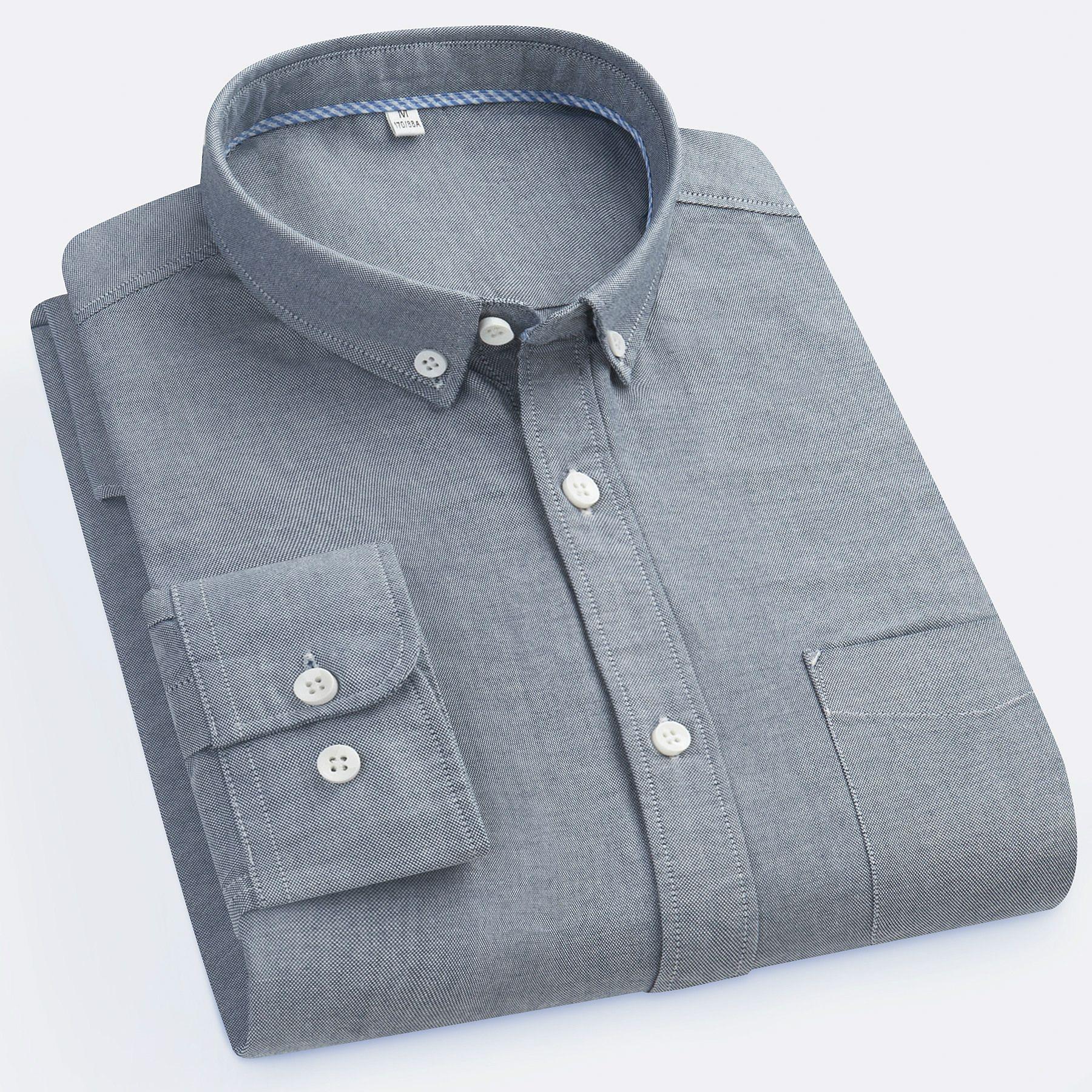 2019 Long Sleeve Plus Size 3XL Men Casual Shirt Male Business Dress Shirt  Men Brand Social Oxford Shirts Blue White From Xunmi,  22.83   DHgate.Com 4943a7c036b