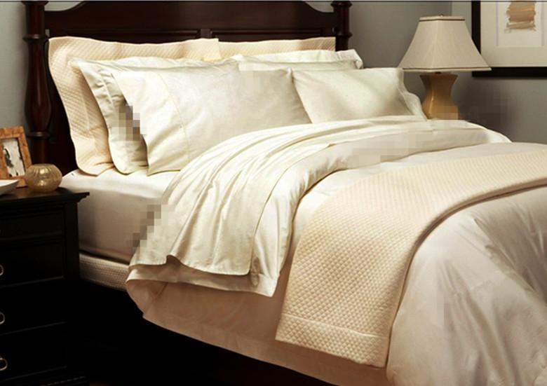 100 Egyptian Cotton 1800 Tc Bedding Set King Size White Beige Color