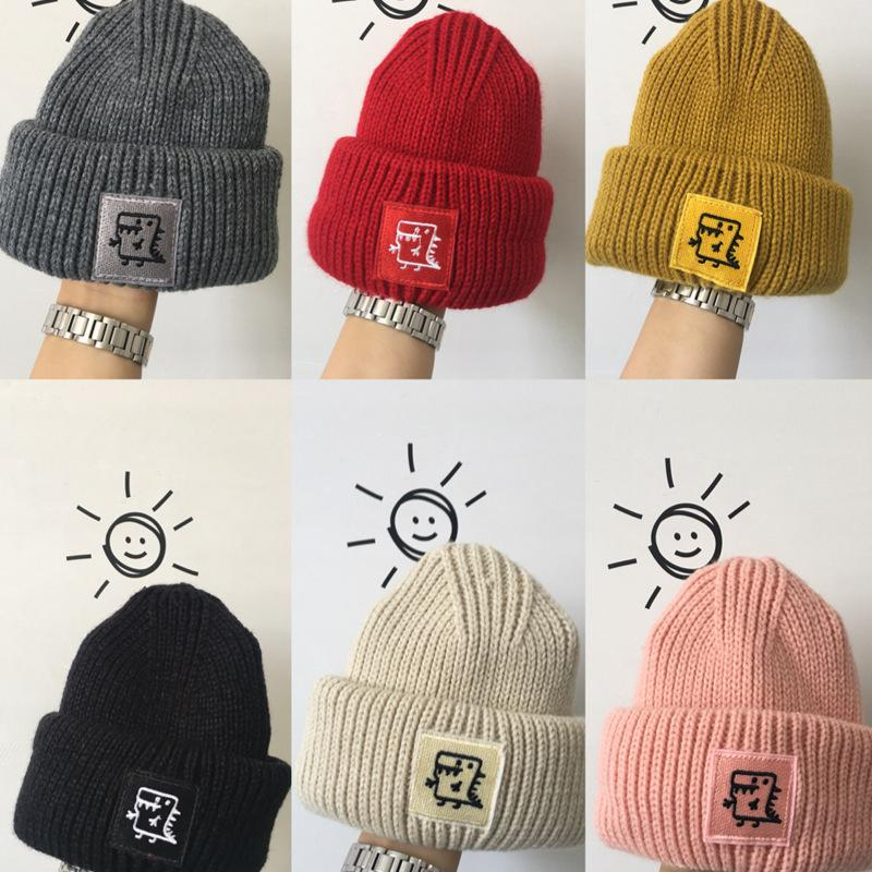 5c0881bc3 Boys Girls Beanies Hats Winter Knitted Cap Dinosaur Designer Kids Hats Warm  Chidlren Acrylic Knitted Caps Xmas Gifts 6Colors AAA1069
