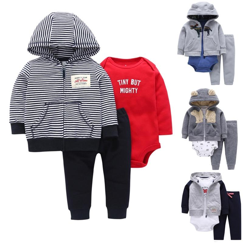 129994c39cfd 2019 Carter Toddler Boy Clothing Set Animal Hooded Coat+Long Sleeve Bodysuit +Long Pants 6 To 24 Months Baby From Xunqian