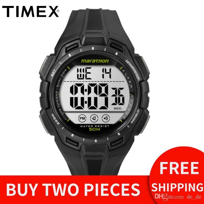 88d556055220 Compre Timex Original Reloj Para Hombre Marathon TW5K946 Dial LCD Correa De  Resina De Pantalla Digital Resistente Al Agua Sport Outdoor Workout Relojes  A ...