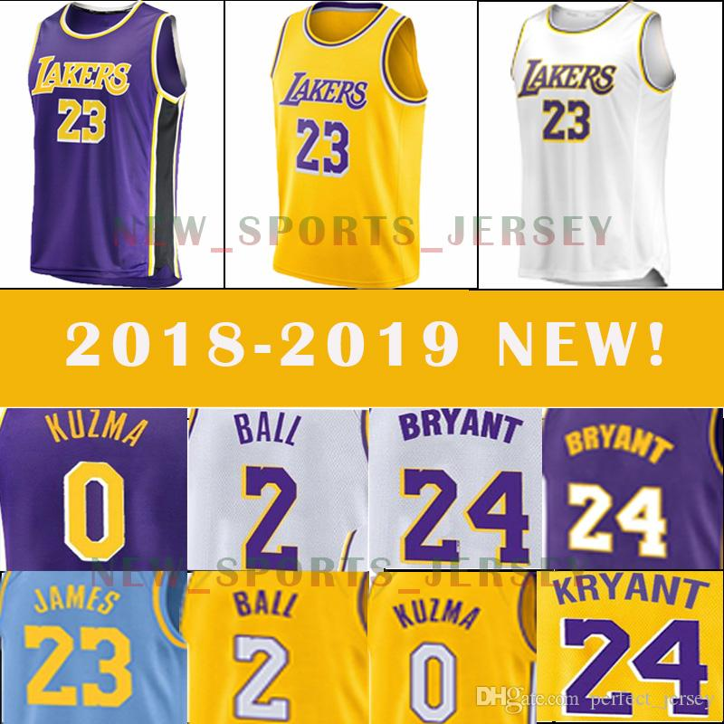 b1832bffcc6 23 LeBron James Jertsey Los Angeles Lakers 2 Lonzo Ball 0 Kyle Kuzma ...