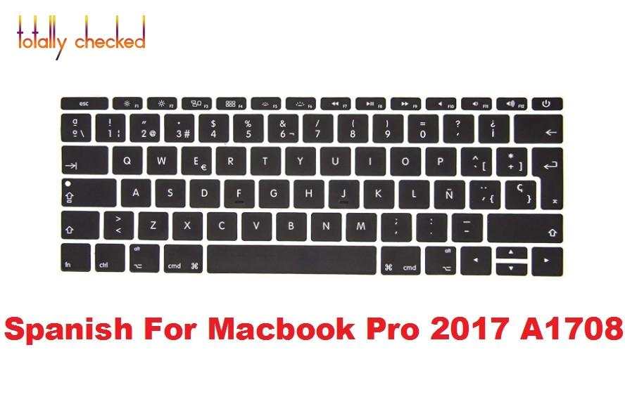 online store 36a2e 148db Spanish keyboard Cover Silicone Skin for MacBook Pro 13 inch A1708 (No  TouchBar) Release 2016 2017 2018