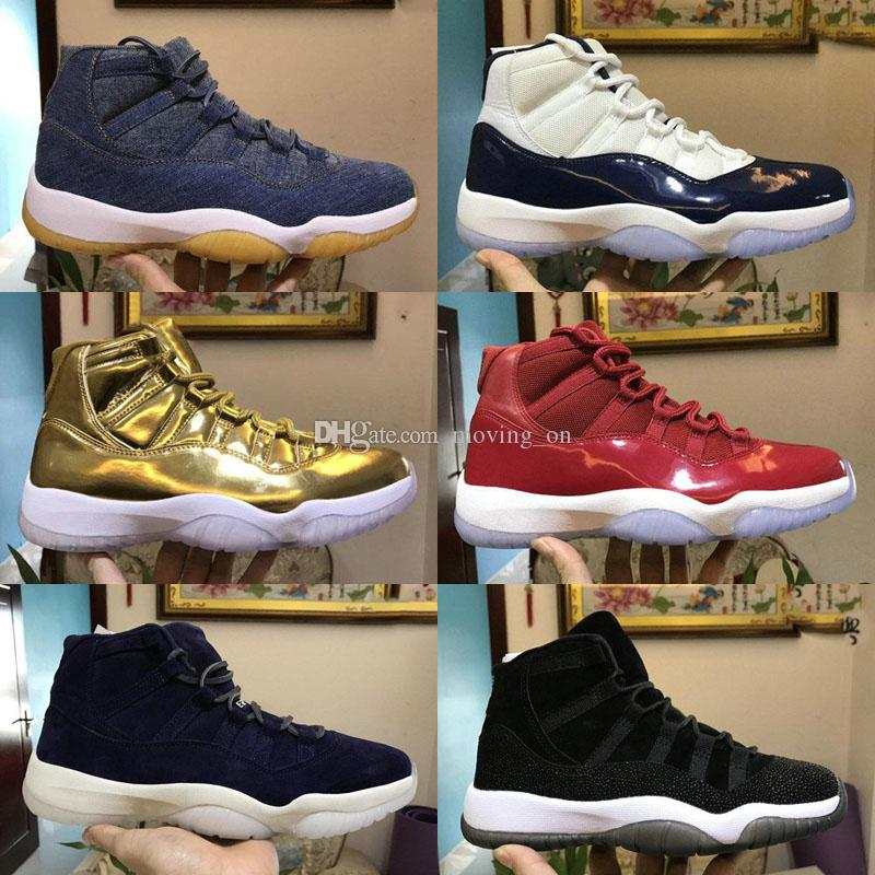 8084e771091f48 2018 New Cap And Gown Prom Night Mens 11 11s Casual Shoes Iridescent UNC  Gym Red Space Jam 45 Concord Casual Shoes Mens Casual Shoes Designer Shoes  From ...