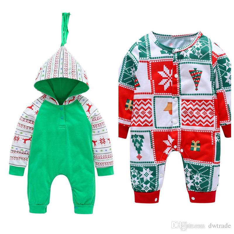 1ad7565b52a 2 Styles Cute Newborn Baby Fashion Jumpsuit Baby Romper Cotton Pajamas  Christmas Body Suit Kids Clothing Outfits 0 18M Toddler Sui UK 2019 From  Dwtrade