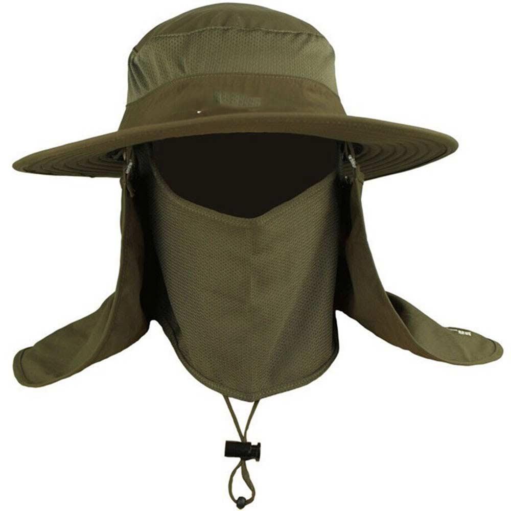 Compre Sombrero De Pesca Para Hombre Bordes Redondos Gorra Para Acampar Sombrero  Para El Sol Protección Contra Los Rayos Del Sol Tapa Del Cubo Del Verano ... 281c3fa6cf9