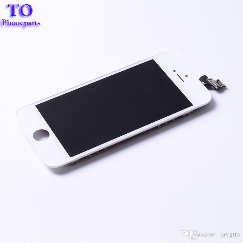 Full Set Assembly LCD Display For iPhone 5 5G 5S 5C with Touch Screen Quality White and Black Fast Shipping
