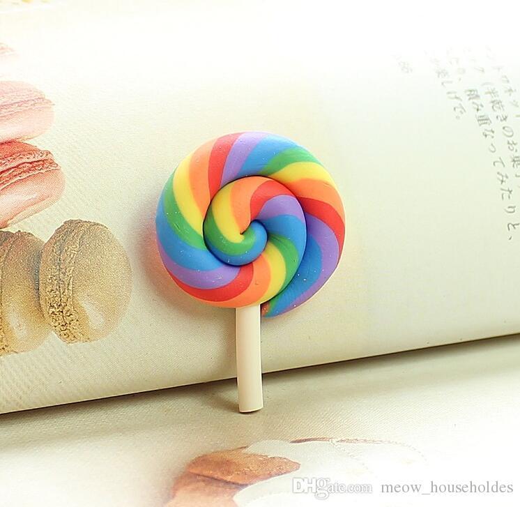 Color de arcilla suave Lollipops Accesorios Principales artículos de novedad Material de crema simulado Material de chocolate Ornamentos de frijol de chocolate Adorno de uñas Decoración del teléfono móvil