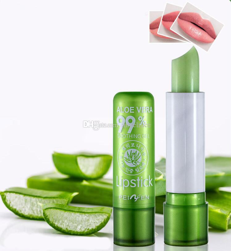 Women's Aloe Vera Waterproof Long Lasting Moisturizing Color Changing Lipstick Lip Gloss Blam Do not fade lip gloss
