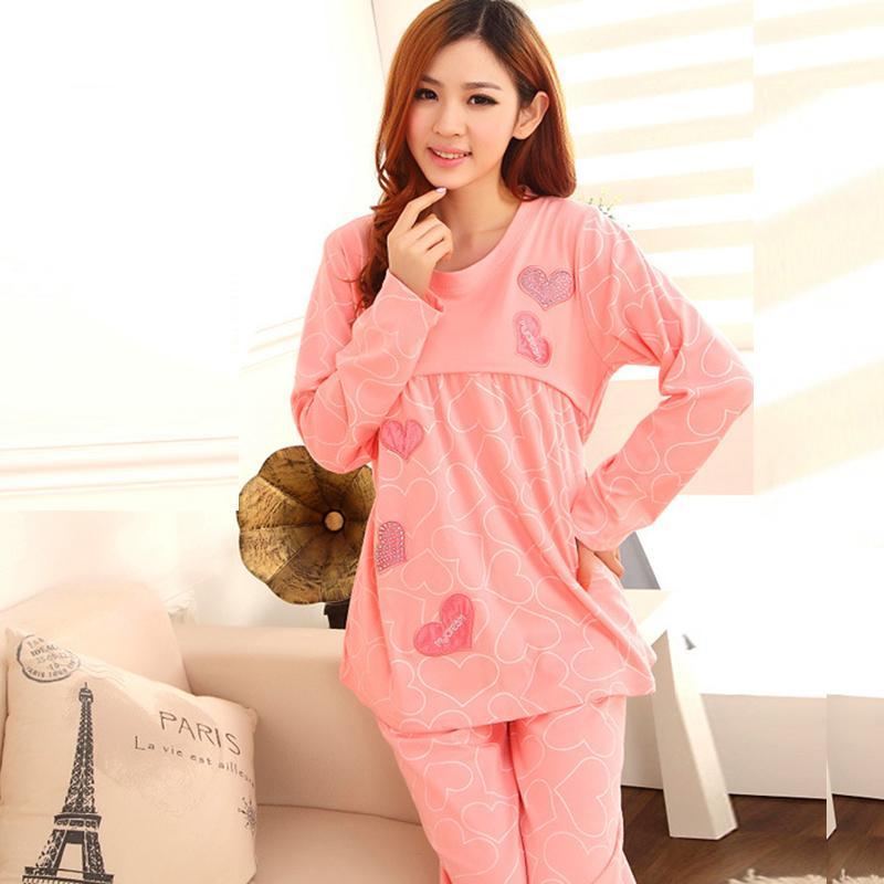 Spring And Autumn Pregnant Women Pajamas Home Nursing Wear, Plus ...