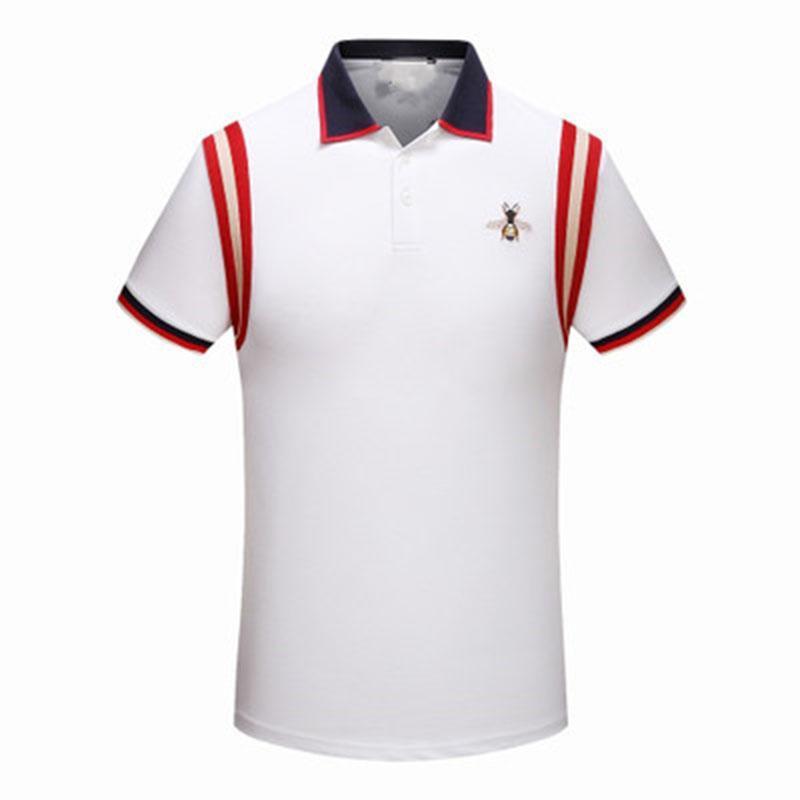 Compre 2018 Novo Designer Polo Camiseta Verão Moda Abelha Bordado Homens De  Rua De Alta T Shirt Casual Manga Curta M 3xl De Uniformstemptation e17bf836ebabb