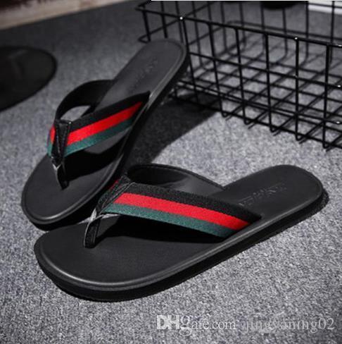 04530265903f73 Summer Men Slippers Brand Designer Flip Flops Beach Sandals Non ...