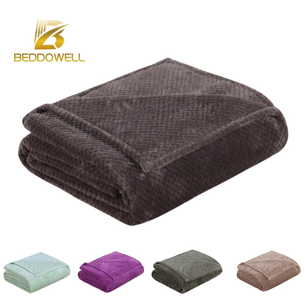 b39175a7b3 Plaid Blanket On The Bed Polyester Coral Fleece Mink Throw Baby Kids Adult  Size Solid Coffee Color Faux Fur Korean Style Blanket Cheap Plush Blankets  ...