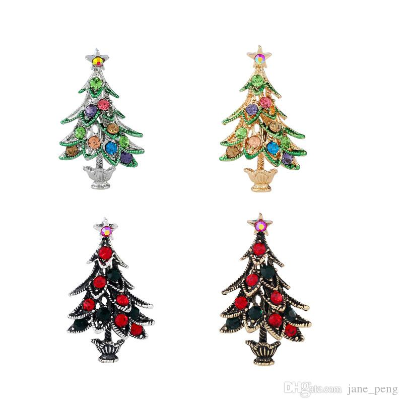2018 Christmas Tree Brooches Pins For Women Men Children Vintage ...