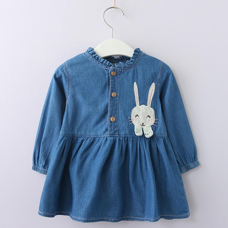 cc11116cc 2019 Girls Rabbits Dress 2018 New Style Children Cartoon Pattern Casual  Printed Dress Design 3 7Y Baby Letter Autumn Clothes Dress Y1892808 From  Shenping02, ...