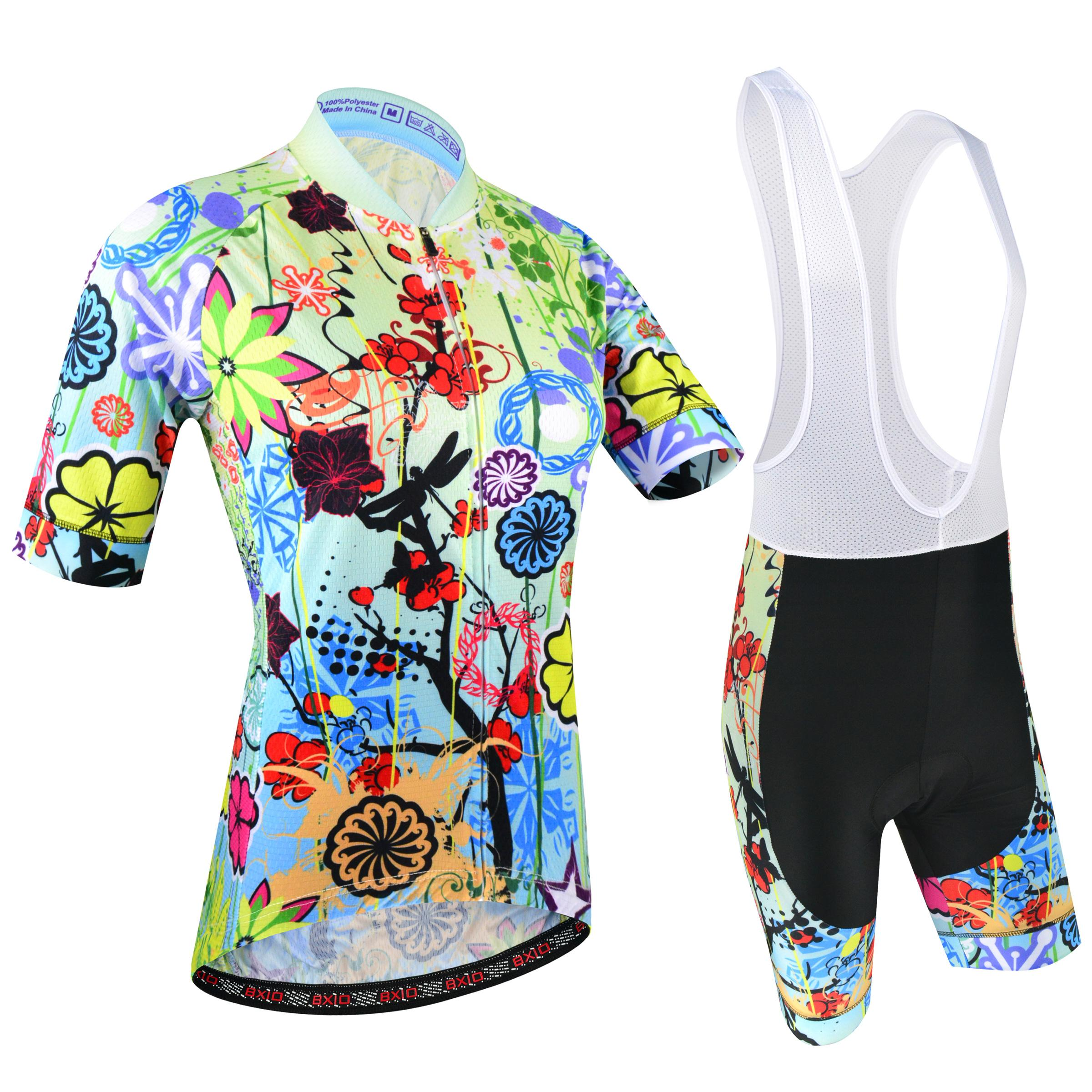 f7533156442 2018 BXIO Brand Summer Breathable Cycling Jersey Set Women Flower Style Cycling  Clothing Ropa Ciclismo Can Be Mix Size Bikes Clothes BX 187 Bicycle Gear ...