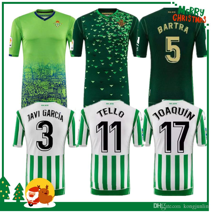 18 19 Real Betis Soccer Jersey 2018 2019 JOAQUIN VAN DER VAART BOUDEBOUZ  MANDI BARTA TELLO INUI JAVI GARCIA CANALES Camiseta Personalizada Por  Kongjunlin 435f42aed3e75