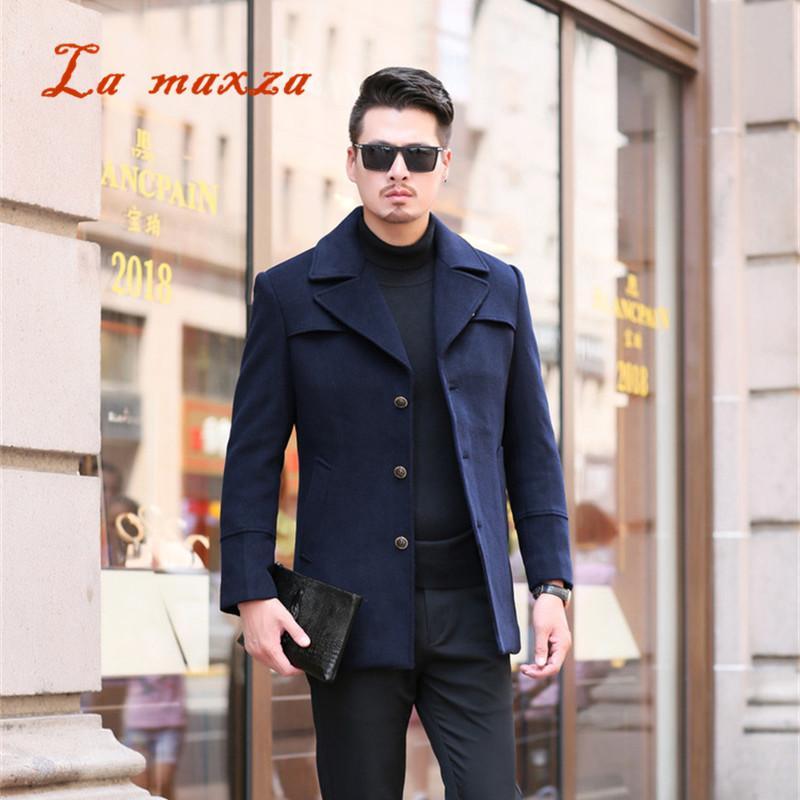7b7e43cd7ece 2019 2018 Smart Casual Mens Winter Coats Overcoats Fashion Pockets Winter  Dress Coat New Arrivals 4XL From Pulchritude