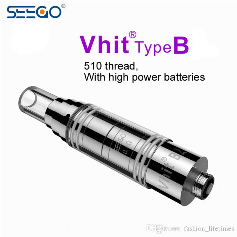 Seego Vhit Series Type-B C Reload II Atomizer Wax Dry Herb Vaporizer Seego Atomizer with Glass Tank Atomizer SEEGO Clearomizer 510 Thread